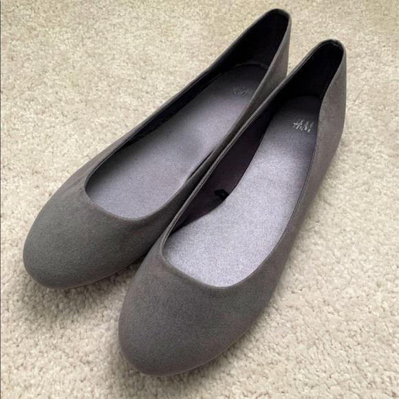 H&M Grey Ballet Flats - Brand New
